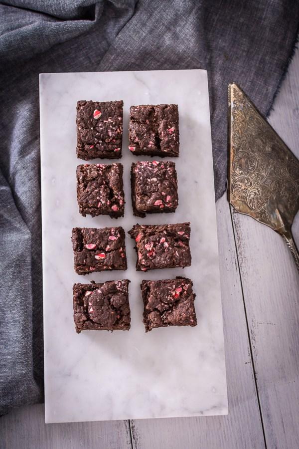 Peppermint Chocolate Brownies – Vegan, Dairy-Free, Egg-Free