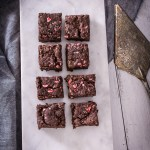 You'd never guess that these decadent peppermint chocolate brownies are vegan. #dairyfree #eggfree #vegan #veganbaking #vegandesserts