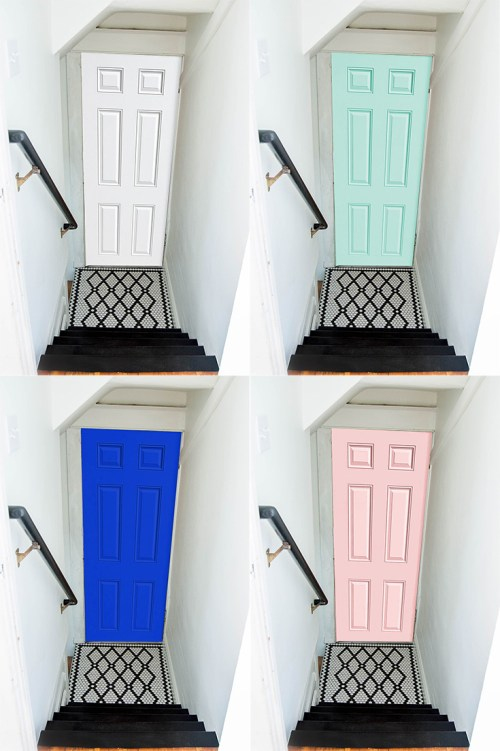 Choosing a door paint color