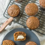 These vegan gingerbread muffins are made without eggs or dairy
