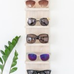 Declutter with a DIY Sunglasses Organizer Shelf