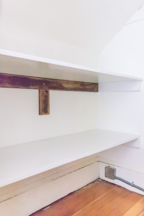 Sturdy wood storage shelves