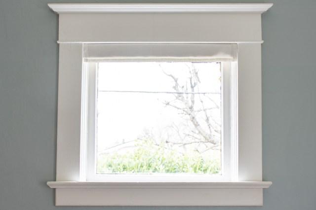 Faux window pelmet