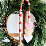 Diy Wood Bead Valentine Garland Diy Inspired