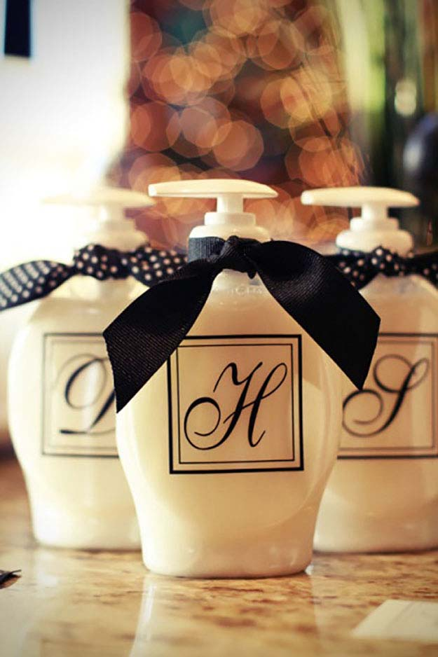 Home Decor on a Budget | DIY Monogram Letter Ideas | DIY Soap Dispenser | DIY Projects and Crafts by DIY JOY at http://diyjoy.com/craft-ideas-diy-soap-dispensers