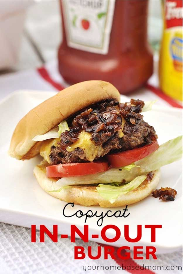 Best 4th of July Recipes and Backyard BBQ ideas - Perfect Burger Recipe for In and Out Copycat at http://diyjoy.com/best-4th-of-july-recipes-ideas