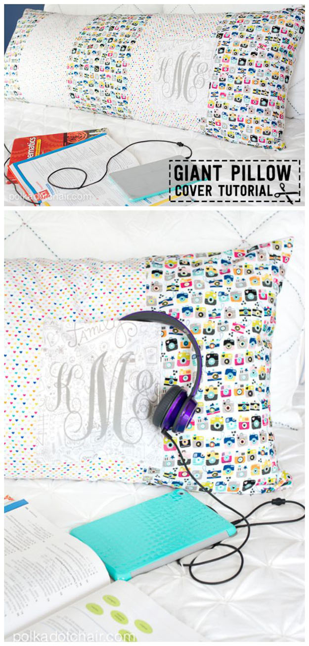 DIY Sewing Projects- Pillowcase Ideas - Body Pillowcase Sewing Tutorial | DIY Projects and Crafts by DIY JOY at http://diyjoy.com/sewing-projects-diy-pillowcases-ideas