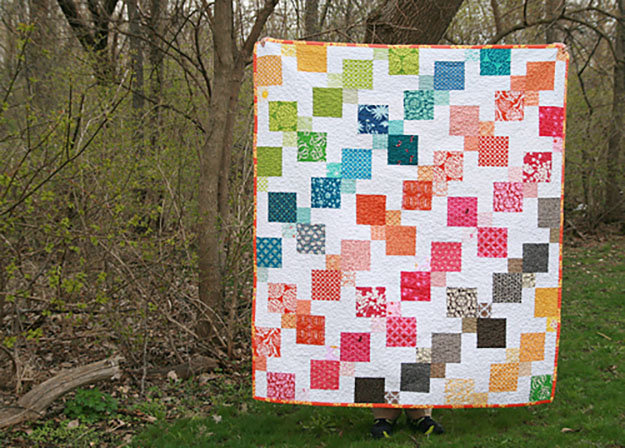 Free Quilt Pattern | Kaleidescope Quilt for Kids | DIY Projects & Crafts by DIY JOY at http://diyjoy.com/free-quilt-patterns-easy-sewing-projects