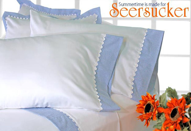 DIY Sewing Projects- Pillowcase Ideas - Seersucker Pillowcase Sewing Idea at http://diyjoy.com/sewing-projects-diy-pillowcases-ideas