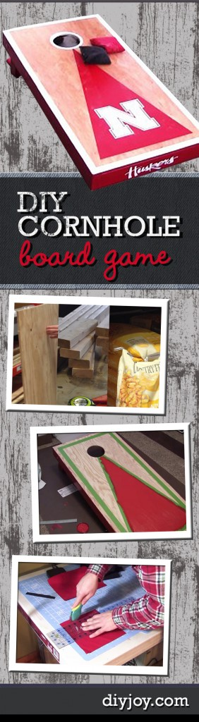 Awesome Crafts for Men and Manly DIY Project Ideas Guys Love - Fun Gifts, Manly Decor, Games and Gear. Tutorials for Creative Projects to Make This Weekend | Fun Outdoor DIY Ideas - DIY Cornhole Board Game Tutorial | http://diyjoy.com/diy-projects-for-men-crafts