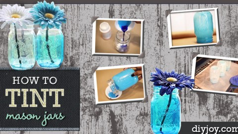 In Just 6 Easy Steps Create Ombre-Tinted Mason Jars | DIY Joy Projects and Crafts Ideas
