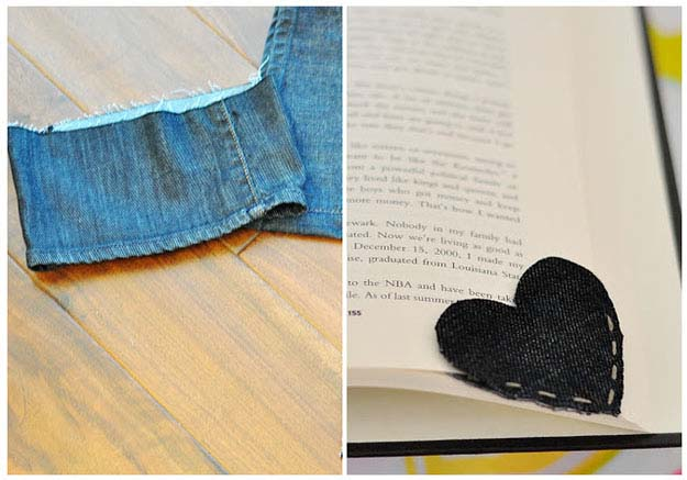 Simple Sewing Project for Beginnners | Denim DIY Bookmark from Old Jeans | DIY Projects & Crafts by DIY JOY