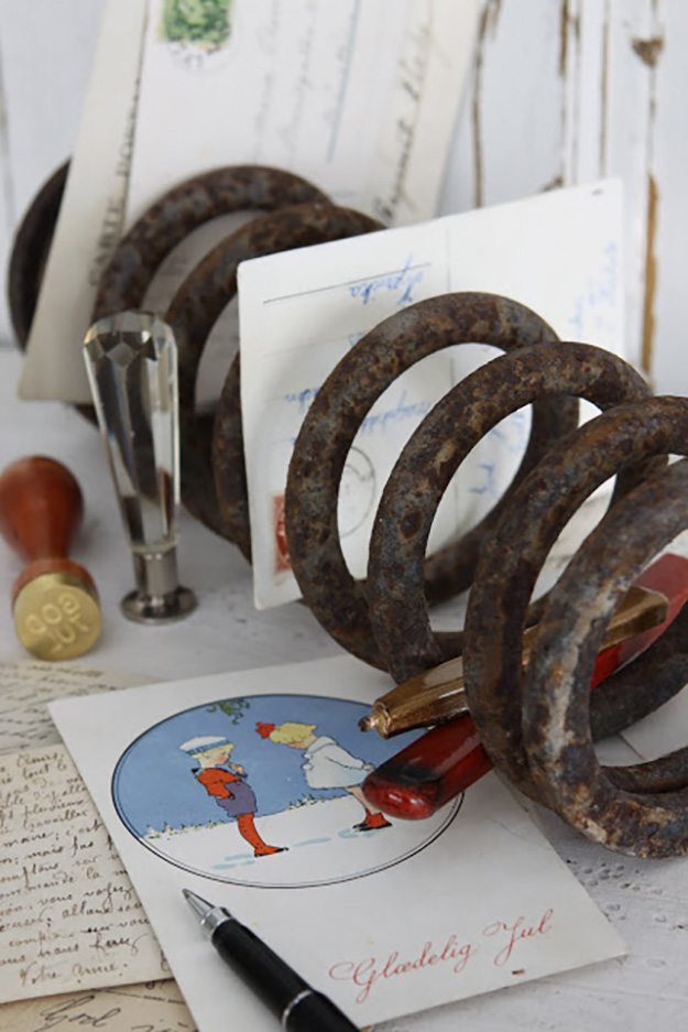 Old Car Parts Ideas - Car Springs Upcycled into Mail Organizers - DIY Seat Belt Buckle Keychain - DIY Projects & Crafts by DIY JOY at http://diyjoy.com/upcycling-diy-projects-car-parts