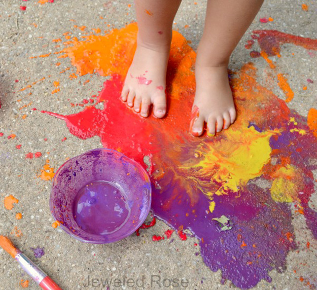 Fun Outdoor Crafts for Kids | DIY Scented Sidewalk Chalk Simple Craft Ideas for Kids to Make | DIY Paint for Art Projects Cheap Outdoor Crafts for Kids to Make | DIY Mud Paint | DIY Projects & Crafts by DIY JOY at http://diyjoy.com/pinterest-crafts-for-kids-diy-paint