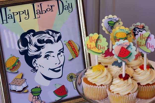Labor Day Party DIY Decor Ideas - Retro Labor Day Free Printables - DIY Projects & Crafts by DIY JOY at http://diyjoy.com/party-ideas-labor-day-food-diy-decor