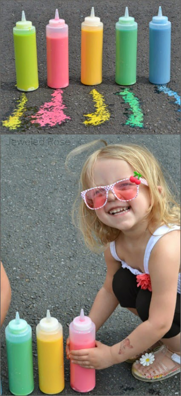 Quick & Easy Crafts for Kids to Make | DIY Sidewalk Chalk Paint | DIY Projects & Crafts by DIY JOY at http://diyjoy.com/pinterest-crafts-for-kids-diy-paint