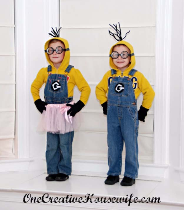 Last Minute DIY Halloween Costumes - Quick Ideas for Adults, Kids and Teens - DIY Minion Halloween Costume Tutorial