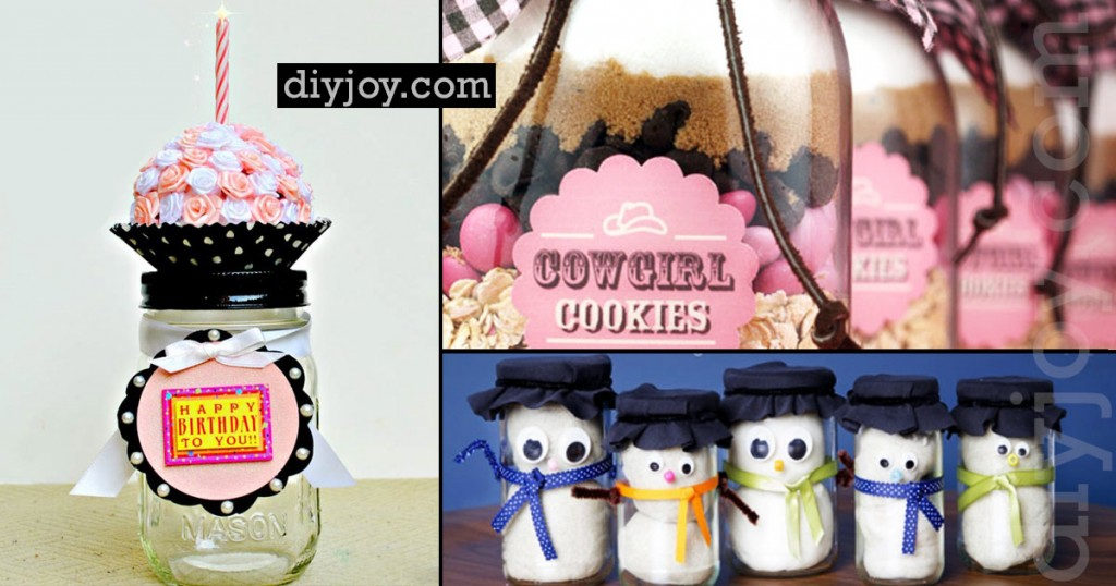 Gifts in A Jar - DIY Mason Jar Gifts and Homemade Christmas Presents in Jars