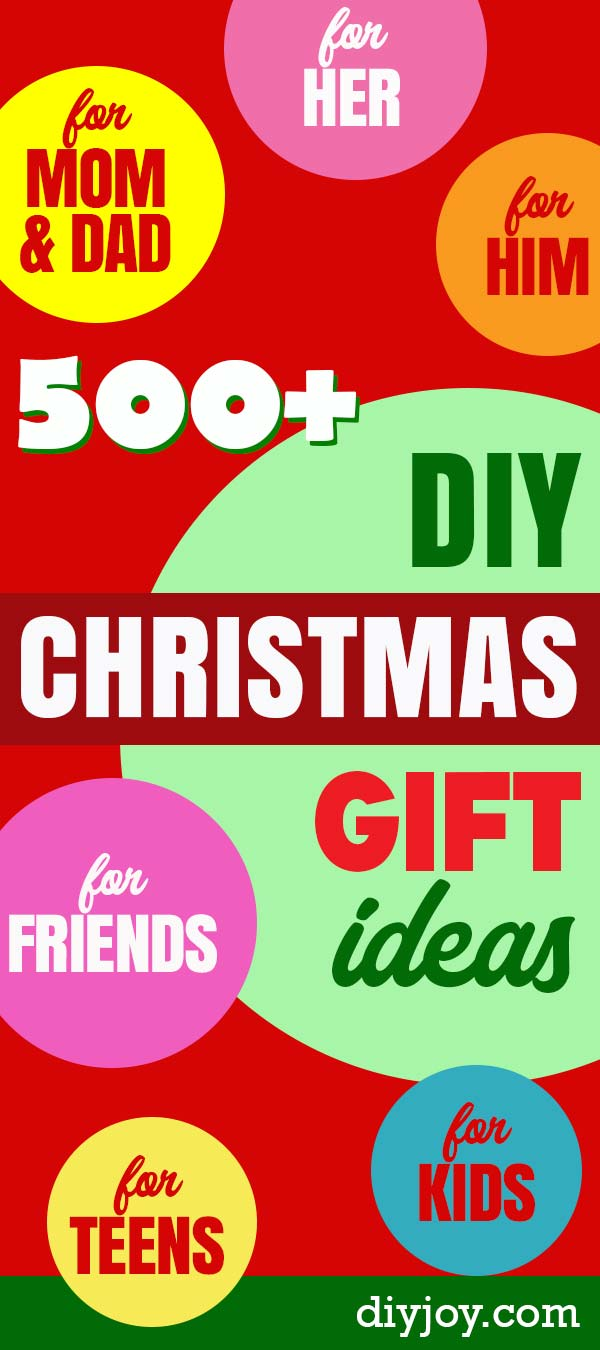 DIY Christmas Gifts - Homemade Christmas Gift Ideas and Best Pinterest Lists for DIY Holiday Gift Ideas for Friends, Women, Men, Kids, Parents, Neighbors, Boyfriend and Girlfriend #diygifts #holidaygifts #giftideas #diyideas #cheapgifts https://diyjoy.com/diy-christmas-gifts