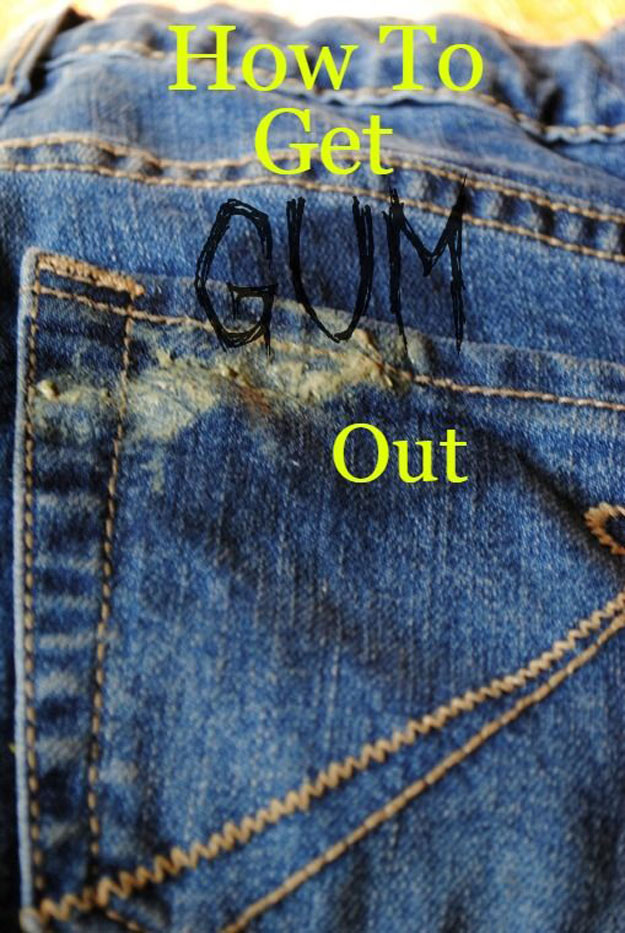 DIY Hacks for Ruined Clothes. Awesome Ideas, Tips and Tricks for Repairing Clothes and Removing Stains in Clothing | How To Get Gum Out With Vinegar | http://diyjoy.com/diy-hacks-for-fixing-ruined-clothes
