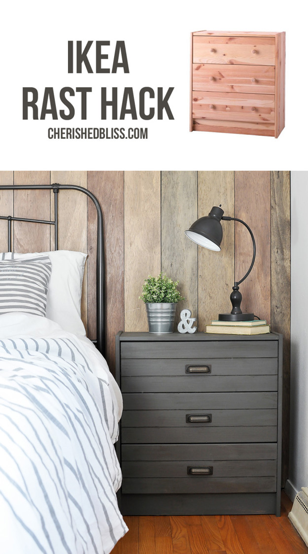 DIY Furniture Makeovers - Refurbished Furniture and Cool Painted Furniture Ideas for Thrift Store Furniture Makeover Projects | Coffee Tables, Dressers and Bedroom Decor, Kitchen | How to Fake a Plank Look | http://diyjoy.com/diy-furniture-makeovers