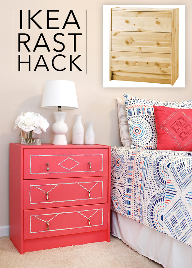 DIY Furniture Makeovers - Refurbished Furniture and Cool Painted Furniture Ideas for Thrift Store Furniture Makeover Projects | Coffee Tables, Dressers and Bedroom Decor, Kitchen | IKEA Rast Dresser Hack | http://diyjoy.com/diy-furniture-makeovers