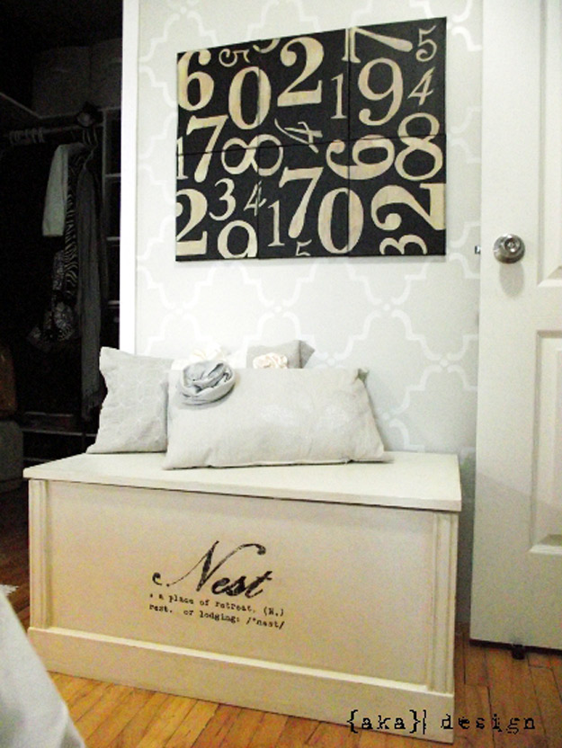DIY Furniture Store KnockOffs - Do It Yourself Furniture Projects Inspired by Pottery Barn, Restoration Hardware, West Elm. Tutorials and Step by Step Instructions | Pottery Barn Inspired Numbers Canvas | http://diyjoy.com/diy-furniture-store-knockoffs