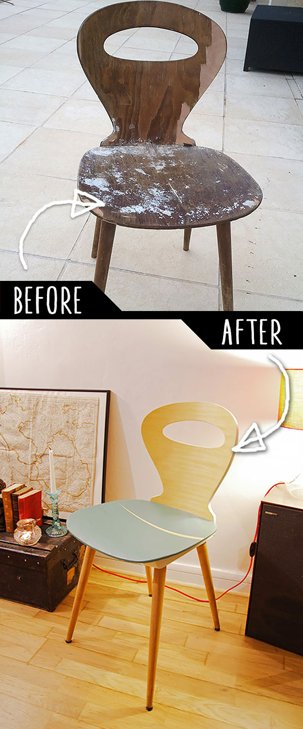DIY Furniture Makeovers - Refurbished Furniture and Cool Painted Furniture Ideas for Thrift Store Furniture Makeover Projects | Coffee Tables, Dressers and Bedroom Decor, Kitchen | Refurbished Broken Chair | http://diyjoy.com/diy-furniture-makeovers