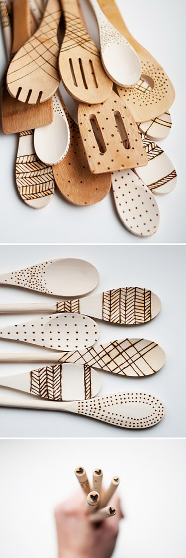 Expensive Looking DIY Wedding Gift Ideas - DIY Etched Wooden Spoons - Easy and Unique Homemade Gift Ideas for Bride and Groom - Cheap Presents You Can Make for the Couple- for the Home, From The Kids, Personalized Ideas for Parents and Bridesmaids | http://diyjoy.com/cheap-diy-wedding-gifts