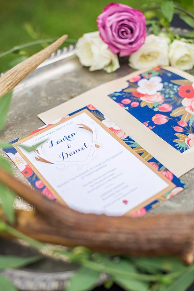 DIY Wedding Invitiations - DIY 3D Wedding Invitations and Floral Envelope Liners - Templates, Free Printables and Wording | Tutorials for Unique, Rustic, Elegant and Vintage Homemade Invites http://diyjoy.com/diy-wedding-invitations