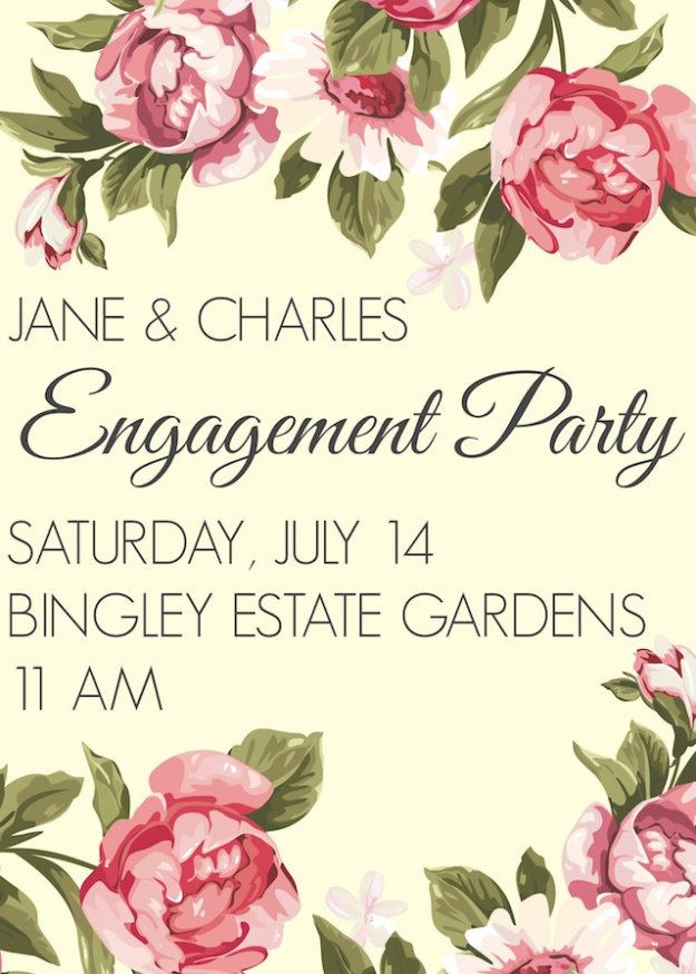 Diy Wedding Invitiations Fl Themed Invitations Templates Free Printables And Wording
