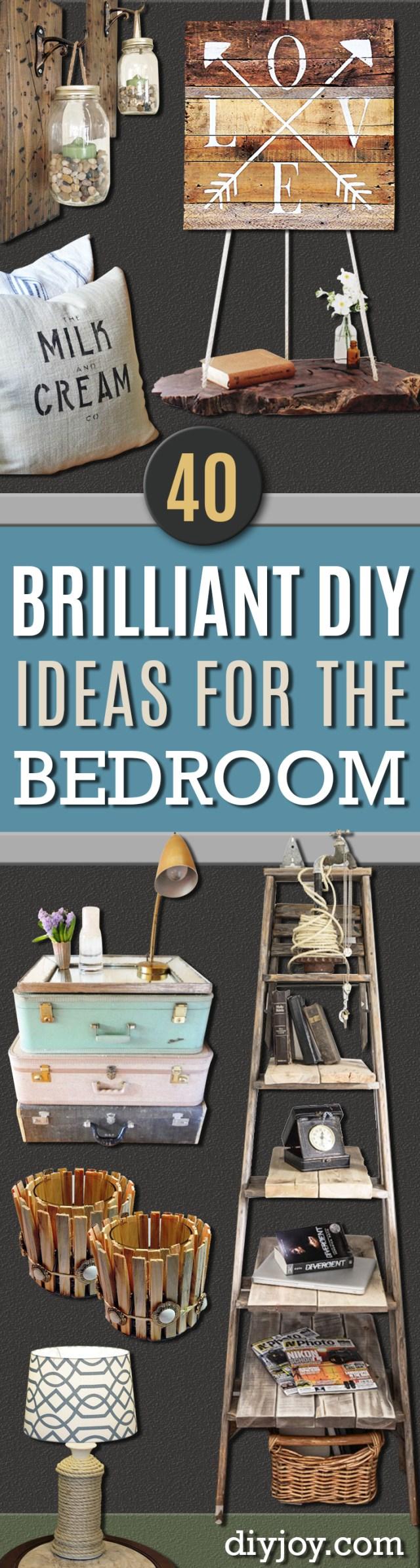 40 Brilliant DIY Ideas for the Bedroom DIY Joy
