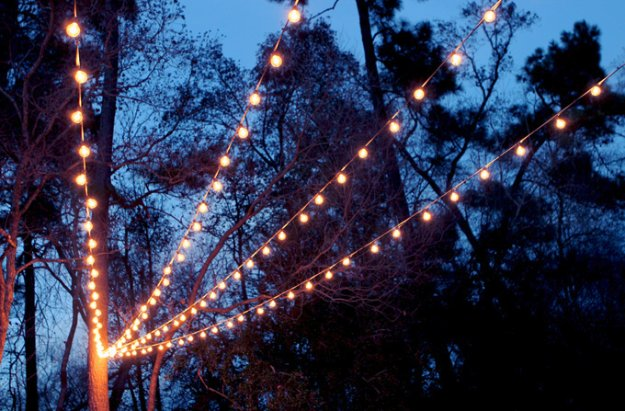 DIY Porch and Patio Ideas - DIY String Lights Canopy - Decor Projects and Furniture Tutorials You Can Build for the Outdoors -Swings, Bench, Cushions, Chairs, Daybeds and Pallet Signs http://diyjoy.com/diy-porch-patio-decor-ideas