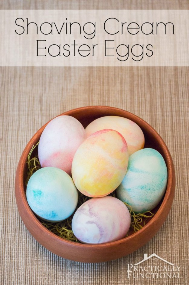 Easter Egg Decorating Ideas - How to Make Shaving Cream Easter Eggs - Creative Egg Dye Tutorials and Tips - DIY Easter Egg Projects for Kids and Adults http://diyjoy.com/easter-egg-decorating-ideas