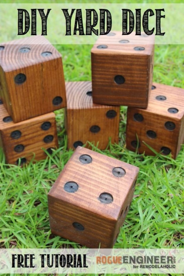 DIY Ideas to Get Your Backyard Ready for Summer - DIY Yard Dice - Cool Ideas for the Yard This Summer. Furniture, Games and Fun Outdoor Decor both Adults and Kids Will Enjoy