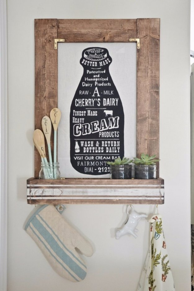 DIY Kitchen Decor Ideas - DIY Planter Box Picture Frame - Creative Furniture Projects, Accessories, Countertop Ideas, Wall Art, Storage, Utensils, Towels and Rustic Furnishings http://diyjoy.com/diy-kitchen-decor-ideas