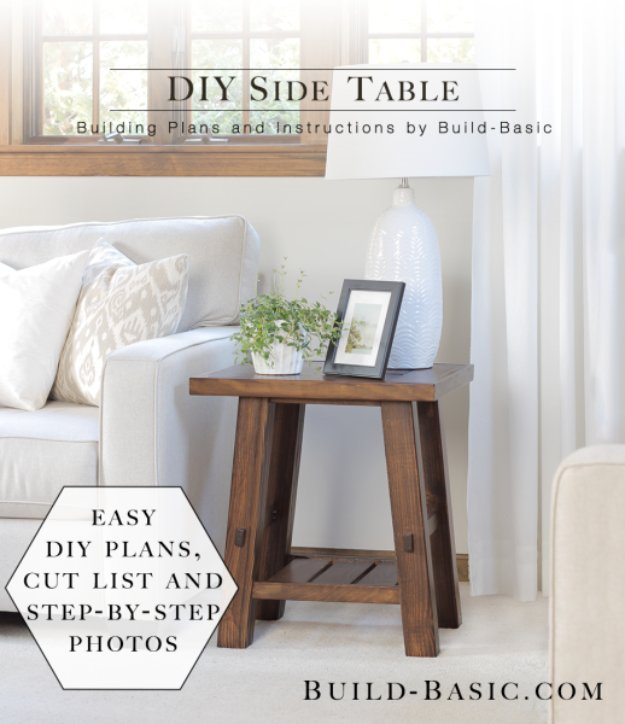 DIY End Tables with Step by Step Tutorials - DIY Side Table - Cheap and Easy End Table Projects and Plans - Wood, Storage, Pallet, Crate, Modern and Rustic. Bedroom and Living Room Decor Ideas http://diyjoy.com/diy-end-tables