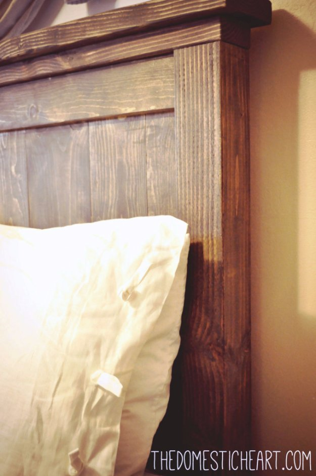 DIY Headboard Ideas - Pottery Barn Inspired Headboard - Easy and Cheap Do It Yourself Headboards - Upholstered, Wooden, Fabric Tufted, Rustic Pallet, Projects With Lights, Storage and More Step by Step Tutorials http://diyjoy.com/diy-headboards