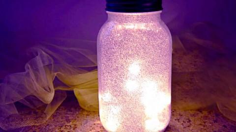 Glitter Fairy Mason Jar Night LightSimply Stunning