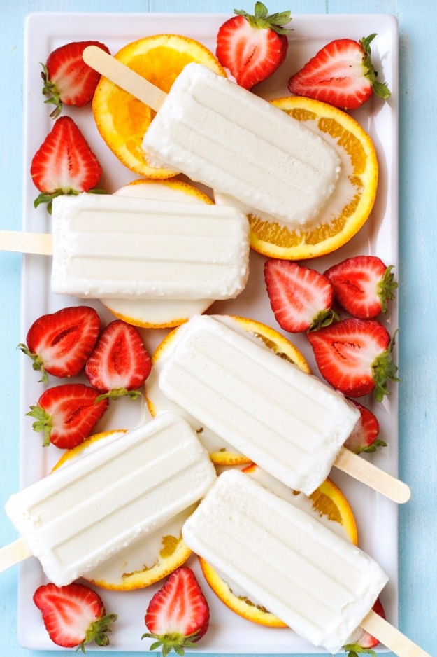 Last Minute Dessert Recipes and Ideas - Coconut Popsicles - Healthy and Easy Ideas for No Bake Recipe Foods, Chocolate, Peanut Butter. Best Simple Ideas for Summer, For A Crowd and for Parties http://diyjoy.com/last-minute-dessert-ideas