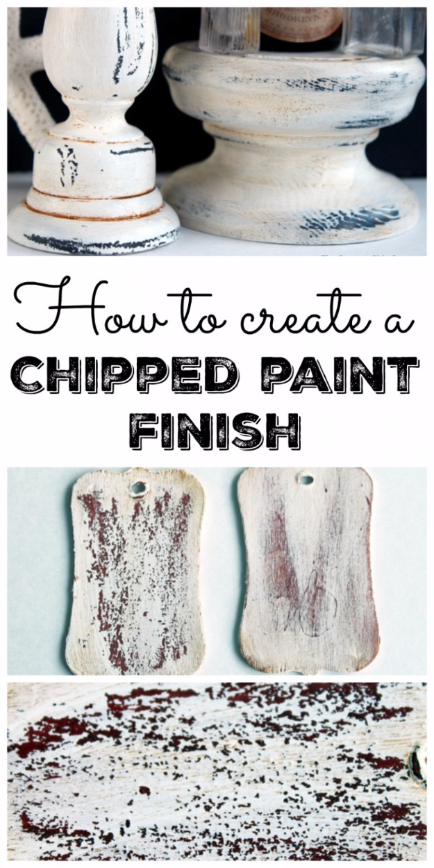 32 DIY Paint Techniques and Recipes - Create a Chipped Paint Finish - Cool Painting Ideas for Walls and Furniture - Awesome Tutorials for Stencil Projects and Easy Step By Step Tutorials for Painting Beautiful Backgrounds and Patterns. Modern, Vintage, Distressed and Classic Looks for Home, Living Room, Bedroom and More http://diyjoy.com/diy-paint-techniques