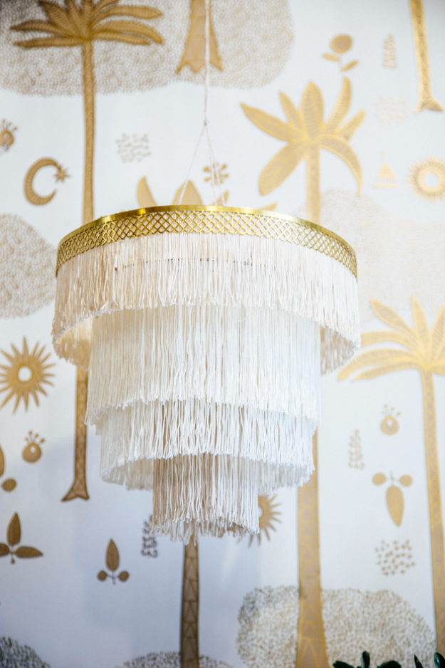 DIY Chandelier Ideas and Project Tutorials - DIY Boho Fringe Chandelier - Easy Makeover Tips, Rustic Pipe, Crystal, Rustic, Mason Jar, Beads. Bedroom, Outdoor and Wedding Girls Room Lighting Ideas With Step by Step Instructions http://diyjoy.com/diy-chandelier-ideas