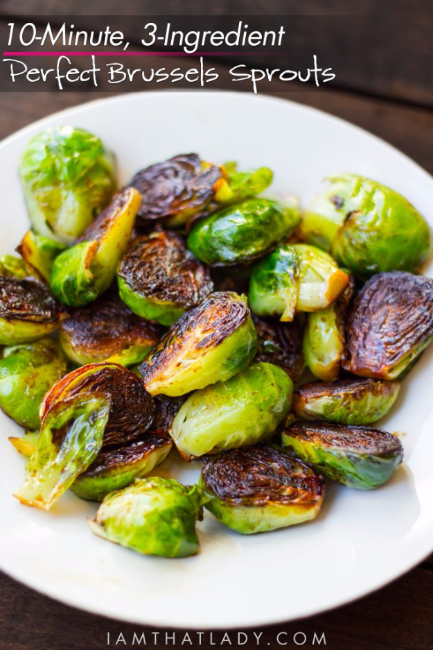 3 Ingredient Perfect Brussel Sprouts