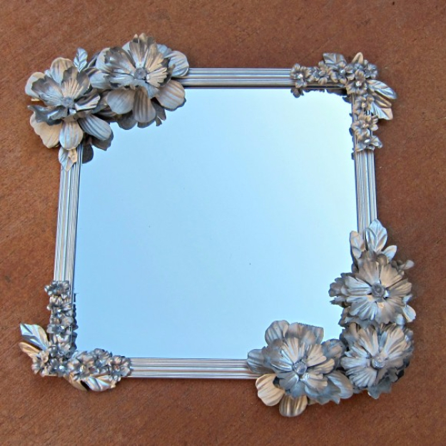 Dollar Store Crafts - Anthropologie-Inspired Mirror - Best Cheap DIY Dollar Store Craft Ideas for Kids, Teen, Adults, Gifts and For Home #dollarstore #crafts #cheapcrafts #diy
