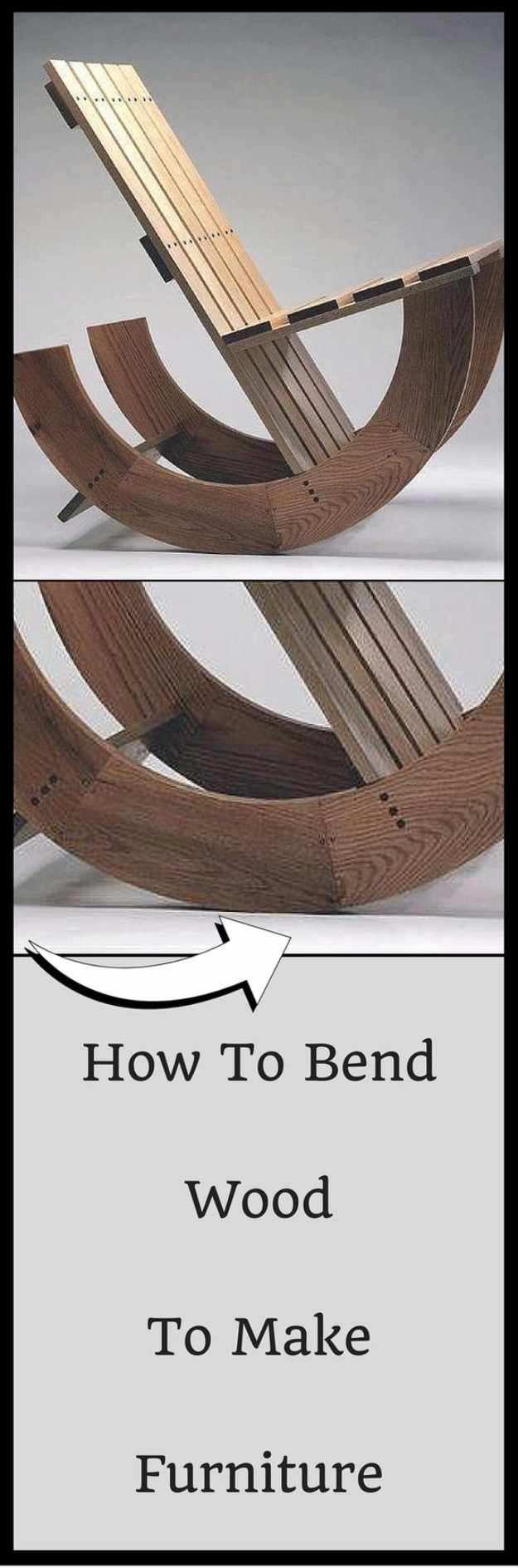 Cool Woodworking Tips - Bend Wood To Make Furniture - Easy Woodworking Ideas, Woodworking Tips and Tricks, Woodworking Tips For Beginners, Basic Guide For Woodworking http://diyjoy.com/diy-woodworking-tips