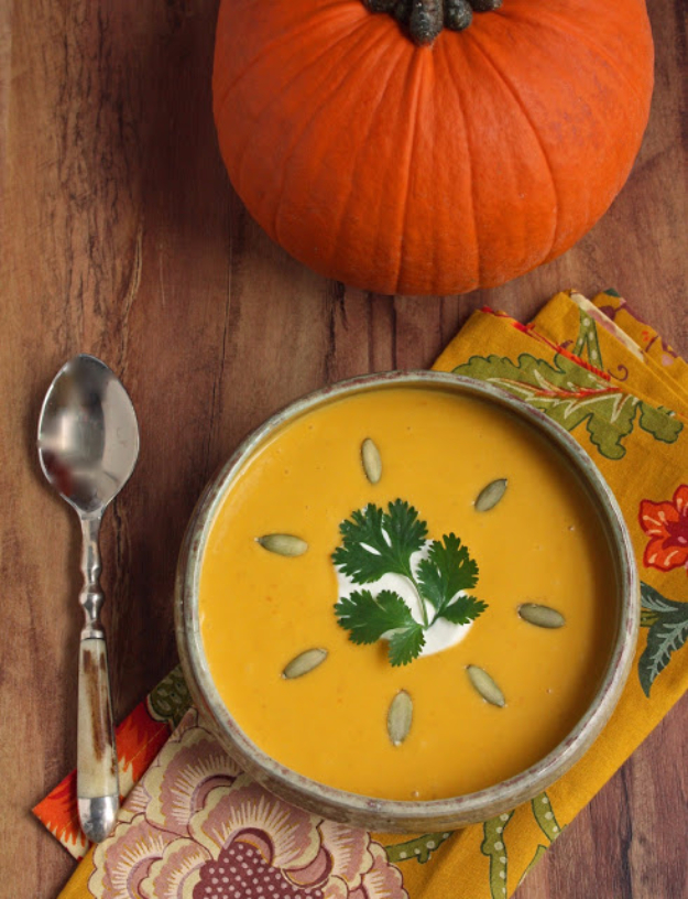 35 Fall Recipes - Pumpkin Chipotle Soup - Best Quick And Easy Fall Recipe Ideas and Healthy Dishes You Can Make For Dinner, Soup, Appetizers, Crockpot and Slow Cooker Snacks and Drinks, Even Dessert http://diyjoy.com/best-fall-recipes