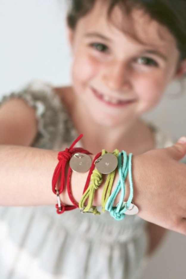 Dollar Store Crafts - Stamped Friendship Bracelets - Best Cheap DIY Dollar Store Craft Ideas for Kids, Teen, Adults, Gifts and For Home #dollarstore #crafts #cheapcrafts #diy