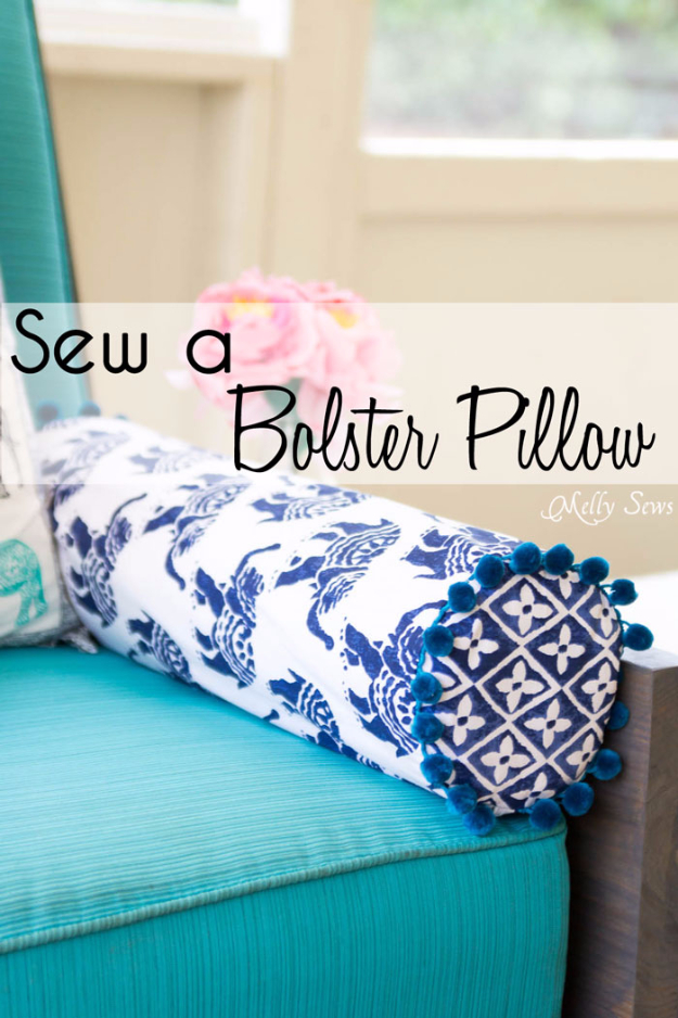 Quick DIY Gifts You Can Sew - Bolster Pillow - Best Sewing Projects for Gift Giving and Simple Handmade Presents - Free Patterns and Easy Step by Step Tutorials for Home Decor, Baby, Women, Kids, Men, Girls http://diyjoy.com/quick-diy-gifts-sew