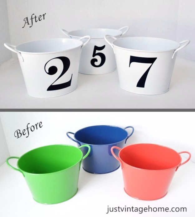 39 Easiest Dollar Store Crafts Ever - Dollar Tree Buckets To Chic Decor - Quick And Cheap Crafts To Make, Dollar Store Craft Ideas To Make And Sell, Cute Dollar Store Do It Yourself Projects, Cheap Craft Ideas, Dollar Sore Decor, Creative Dollar Store Crafts http://diyjoy.com/easy-dollar-store-crafts