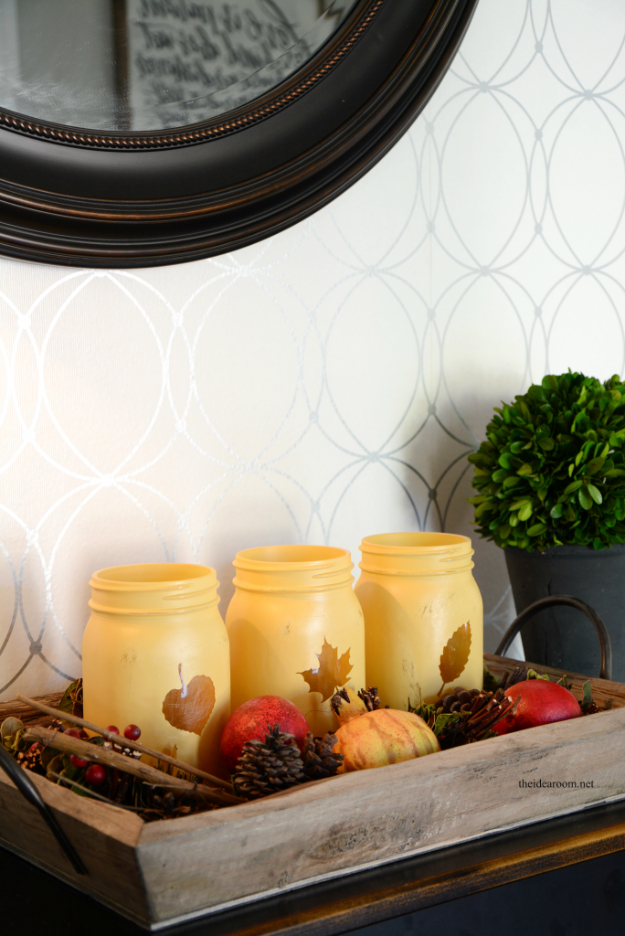 33 Mason Jar Crafts For Fall